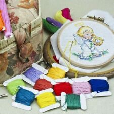 Embroidery Cross Stitch Floss with Organizer Storage Box 108 Color Floss Set Kit