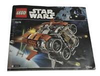 Lego 75178 Disney Star Wars Jakku Quadjumper Instruction Manual Replacement