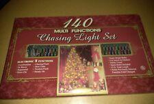 Vintage 140 Christmas Light Set Chasing Multi Function ndoor Outdoor Lights New