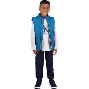 Calvin Klein Boys' Kids' 3-piece Vest Set - BLUE (Select Size: 2T-6)