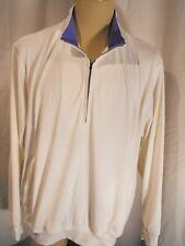 Donald Ross Golf White 1/2 Zip Pullover - Men's L - Great Shape