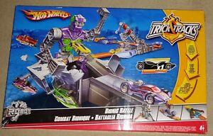 NEW Hot Wheels BIONIC BATTLE Trick Tracks Toy Rare Car Game Kids Gift Xmas UK