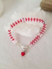 Valentine's Woven Sweetheart Bracelet With Sterling Silver Clasp