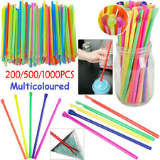 More details for 100-1000pcs spoon straws milkshake smoothie drinks cocktail slush party
