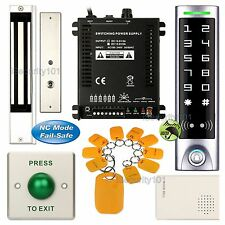 DIY Access Control RFID Kit + Electric Magnetic Door Lock NC Fail Safe