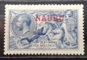 1916-23 NAURU seahorse 10/ Blue De La Rue sg 23 MUH mint unhinged stamp cat £250