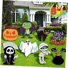 Halloween Decorations Outdoor, 8PCS Yard Signs with Stakes, Cute Pumpkin Trick