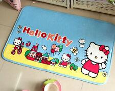 Supersoft Hello Kitty Plush Coral Fleece Door Floor Rug Skidproof  Bedroom Mat
