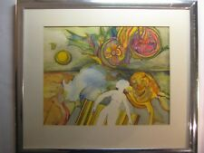 Barbara  Aubin:  Original  Mixed  Media  Water  Color  &  Pencil  On  Paper