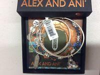 Alex and Ani Crystal Infusion Namaste Set of 3 Rafaelian Silver NWTBC