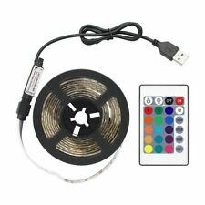 USB LED Strip Light RGB With Remote Control Waterproof TV Background Lighting