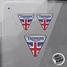 PEGATINA TRIUMPH BRITISH FLAG SHIELD VINILO VINYL STICKER DECAL AUTOCOLLANT