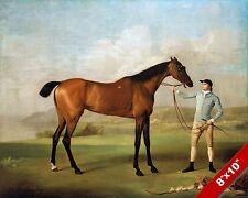 MOLLY LONG LEGS HORSE & JOCKEY RACE RACING ART PAINTING REAL CANVAS PRINT