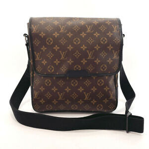 LOUIS VUITTON Shoulder Bag M56715 Bus MM Monogram macacer Brown/Black unisex