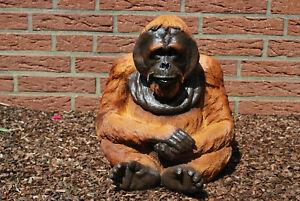 Orang Utan Mittel Affe Gartenfigur Standfigur Dekoration Tierfigur