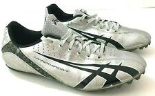 ASICS Hypersprint Mens 8.5M Track Shoes Black Silver Running G900Y