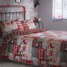 Portfolio Christmas Scrapbook Quilt Duvet Cover and 2 Pillowcases Bedding Bed SE