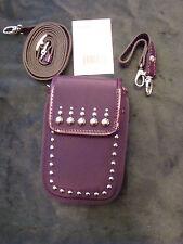 BRIGHTON Purple Metal Studded Twister Pouch Wristlet/Crossbody NWT MSRP$72