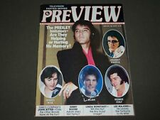 1978 JUNE PREVIEW MAGAZINE - ELVIS PRESLEY COVER - CW 588