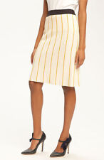 Tory Burch Lena Skirt in Vanilla Cake/Olive/Mustard/Normandy Blue Size XL $250
