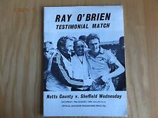 Notts County v Sheff Wed (Ray O'Brien Test) - 18th Aug 1984