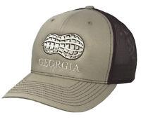 Heritage Pride Georgia Peanut Embroidered Trucker Hat-Khaki, Brown Mesh