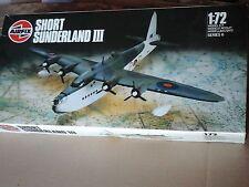 SHORT SUNDERLAND III 1/72 SCALE AIRFIX MODEL VINTAGE 1988