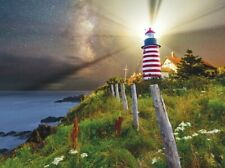 Jigsaw Puzzle Seascape Night Over Quoddy Lighthouse 1000 pieces NEW made in USA