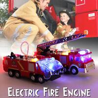 Camion Dei Pompieri Motore Rescue Veicoli Modello Gru Auto Giocattolo W/