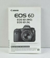Canon EOS 6D (WG) (N) Camera Instruction Manual User Guide SPANISH VGC (299)