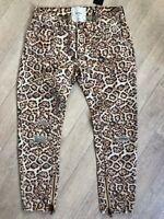 One Teaspoon Leopard Freebirds Jeans 23-31 Distressed Low W Ripped NWT