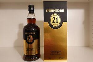 Springbank 21, Single Malt Whisky (08/2020), 0,7 l, 46%, neu