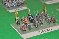 15mm medieval / english - men at arms 12 figs - cav (56620)