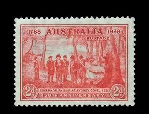 "SG193a - 1937 Australia 2d Scarlet ""Tail Flaw"" Mint no Gum Stamp - CV $1400 - 59"