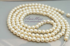 *150 pcs/strand 6mm Ivory Sewing ABS Imitation Plastic Round Loose Pearl Beads*