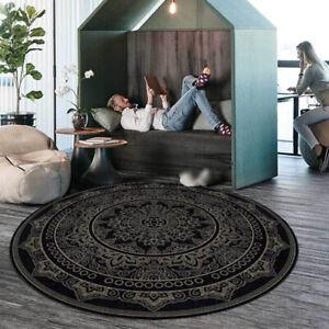 Round Carpet Pattern Area Rug Living Room Non-Slip Floor Mat Bedroom Home Decor