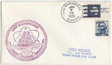 US Naval Cacheted Cover Ship Cancel USS Bainbridge CGN-25 1976
