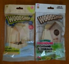 New Diy Woodshop Bird Feeder and Bird House Dual Kit Hobby Craft For Kids