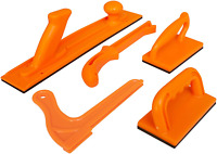 Fulton Safety Woodworking Push Block and Push Stick Package 5 Piece Set In Safet