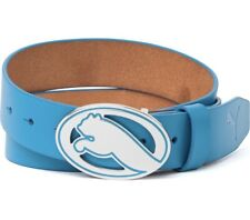 NEW Puma Regent Fitted Belt Blue Aster Genuine Leather Golf US Small $50