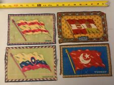 Lot of 4 1900's Vintage Tobacco Cigarette Felt- Turkey, Spain, Columbia, Hungary