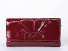Coach Ashley Patent Leather  Check Book Wallet  46306