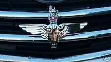 "The PARACHUTE REGIMENT Emblem Car Grille Badge Army Militaria ""Utrinque Paratus"""