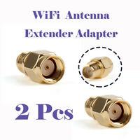2 x SMA RF-SMA Reverse WLAN Adapter Männlich Weiblich Verbinder Antenne Stecker