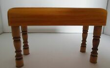 Dollhouse miniature 1:12 large handcrafted wood kitchen butcher block table