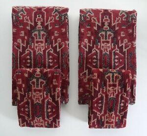 Ralph Lauren 4-Pcs Towel & Hand Towel Set Made in USA VTG Aztec Polo Maroon Rare