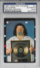 CAPTAIN LOU ALBANO Signed 1985 Topps WWF Wrestling Sticker CARD #13 WWE PSA/DNA