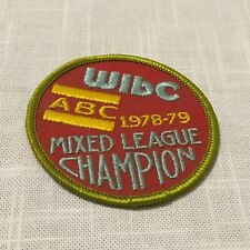 "New / Unused WIBC ABC Mixed League Champion 1978-79 Bowling Patch ~ 3"" x 3"" #02"