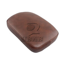 Brown Rear Passenger Pillion Pad Seat 8 Suction Cups for Harley Cruiser Customs