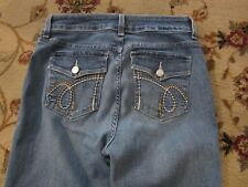 NYDJ NOT YOUR DAUGHTERS LIFT TUCK JEANS SIZE 8P EMBROIDERED POCKETS